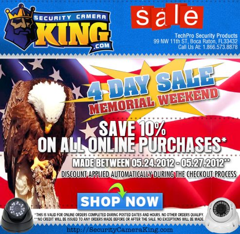 Another Version of the 2013 Memorial Day Email Design that I made for Security Camera King