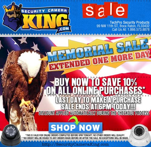 2013 Memorial Day Email Reminding Retail Customers of the Sale Extention