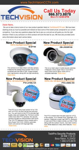 Security Camera Email Template TechVision Sept 2012