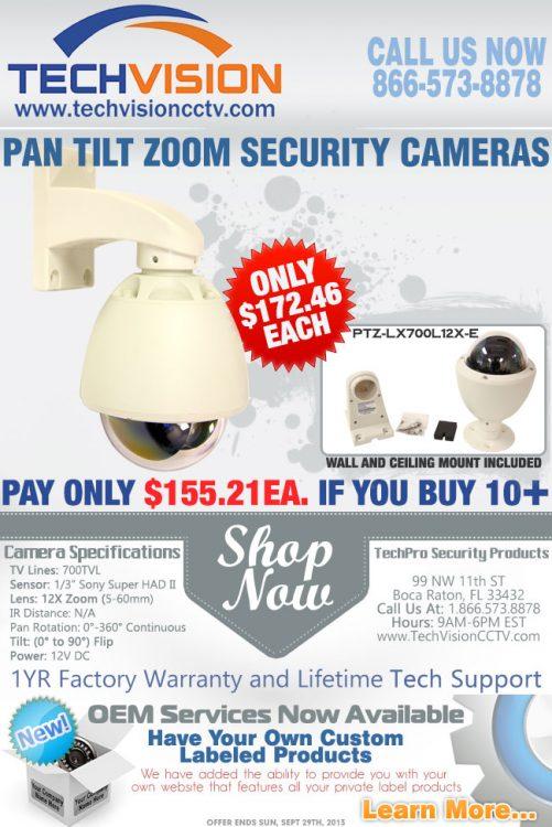 PTZ-LX700L12X-E Price Break Email Campaign I Designed