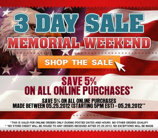 memorial day sale retail emailer