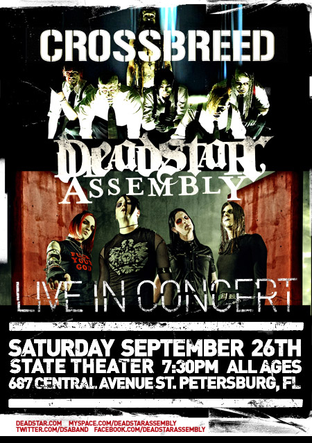 Deadstar Assembly & Crossbreed at State Theater - Sept 26