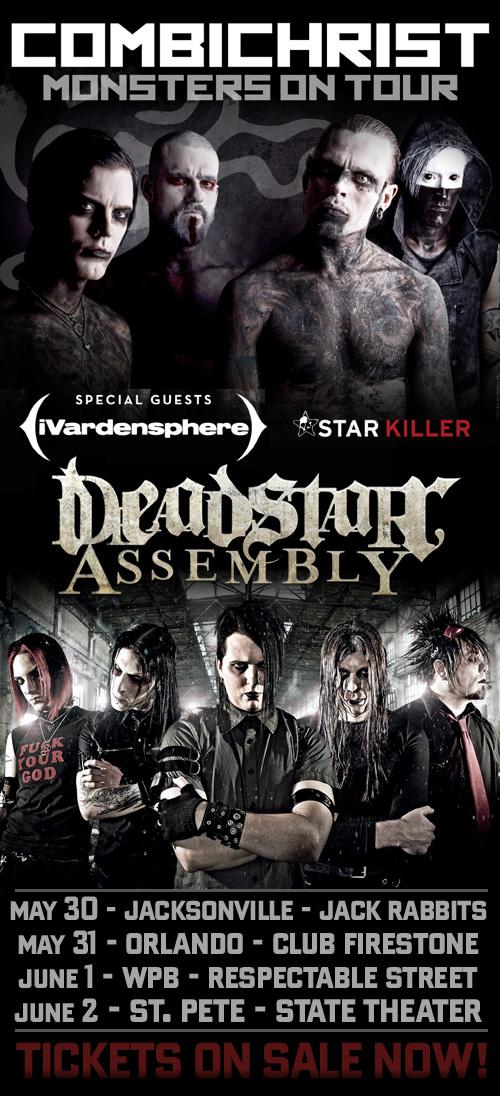 CC MOT DSA FL Deadstar Assembly Florida Tour w/ Combichrist, iVardensphere, & StarKiller