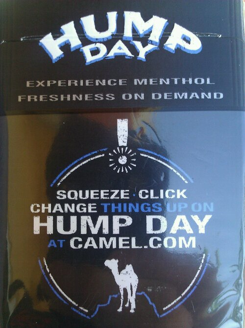 Camel Hump Day Cigarettes What This Hump Day Camel