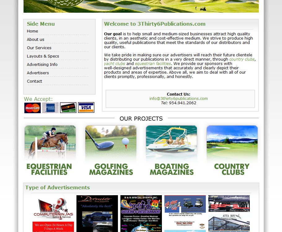 Design and Programming I did for 3thirty6publications.com