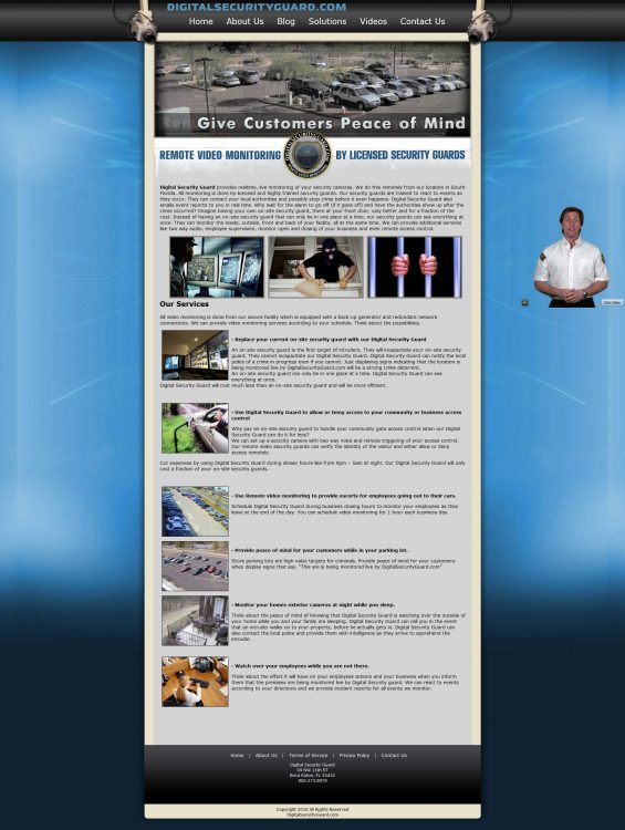Digital Security Guard Website Created by Dro Simoes at digitalsecurityguard.com