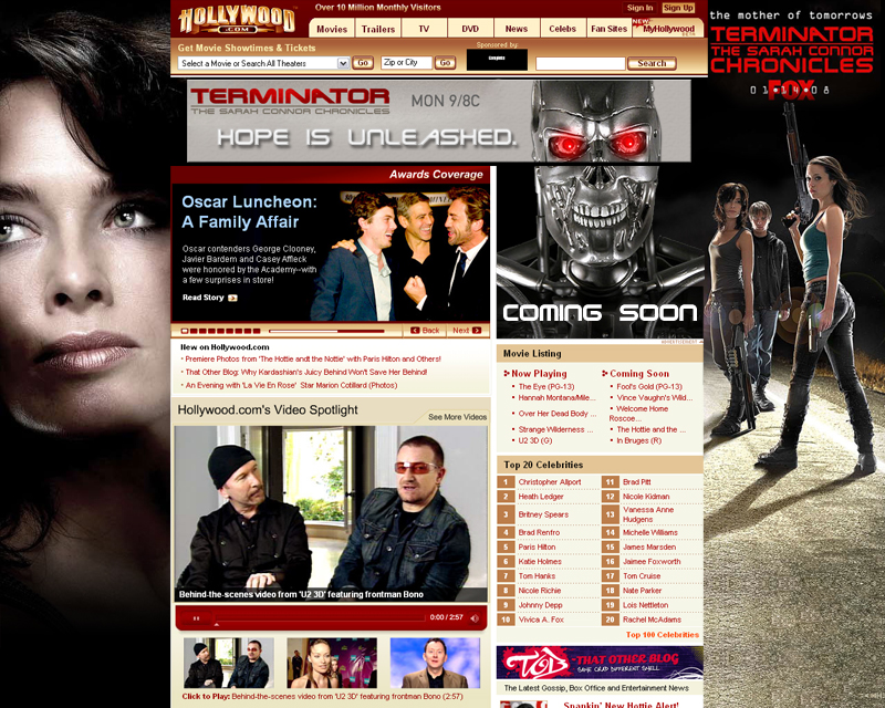 Hollywood Media minisite designed by Dro Simoes