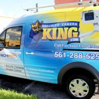 Security Camera King Van Wrap