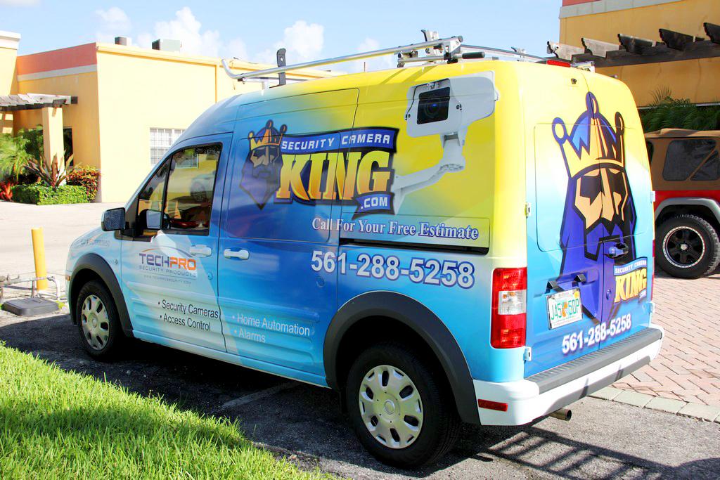 Security Camera King Van Wrap • The Dro