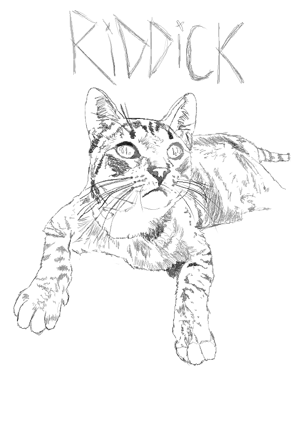 Riddick Drawing Riddick The Cat Drawing