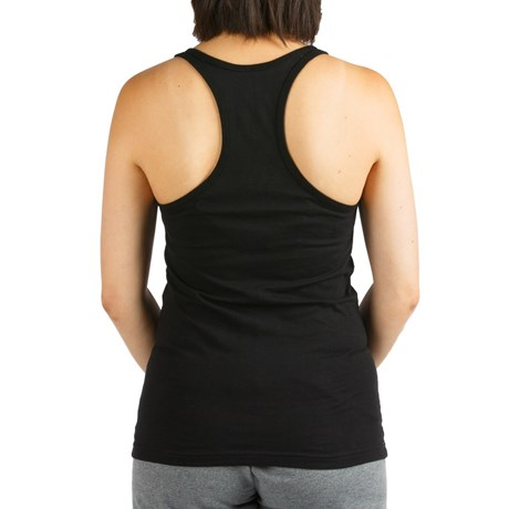 Luna Wolfdog Black Female Tank Top Back