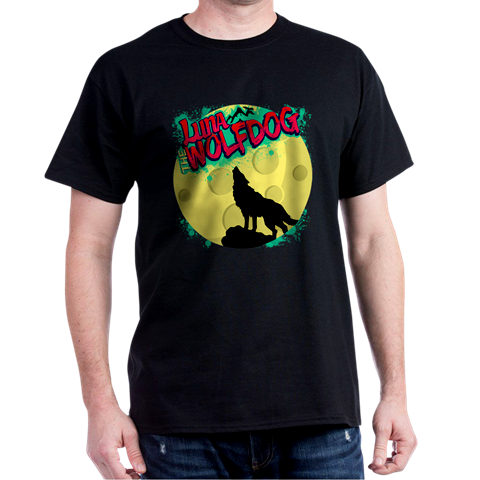 Luna the Wolfdog Black Tee