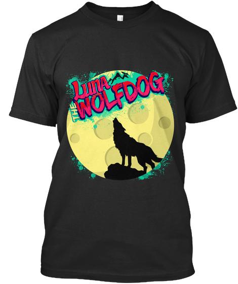 Luna the Wolfdog Howling Moon Tee