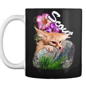 Scout the fennec fox cutie on a mug