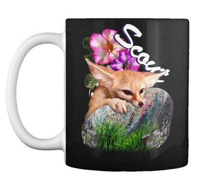 Scout the fennec fox cutie on a mug