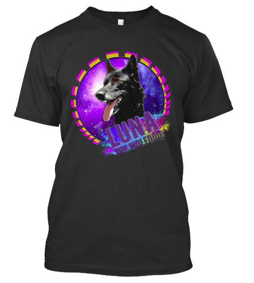 Luna the Wolfdog Galaxy Tee Front