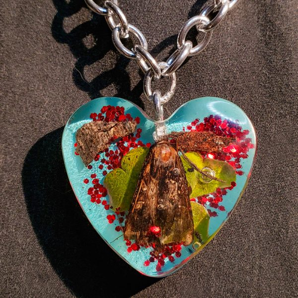 Resin Heart Moth